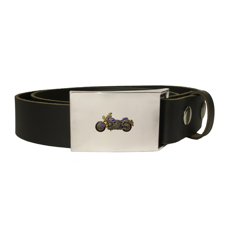 Harley Davidson motorcycle leather snap fit belt