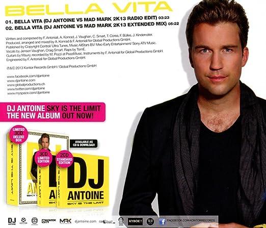 Dj Antoine Bella Vita Amazoncom Music