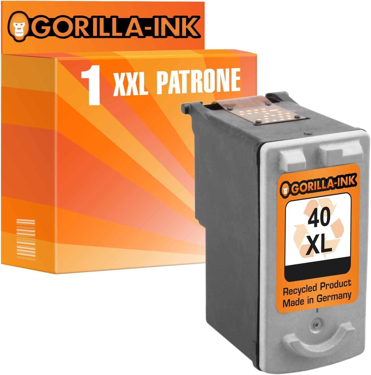 Gorilla-Ink - Cartuchos de Tinta compatibles con Canon PG-40 XL y CL-41 XL, Color Negro (01) 1x Black: Amazon.es: Electrónica