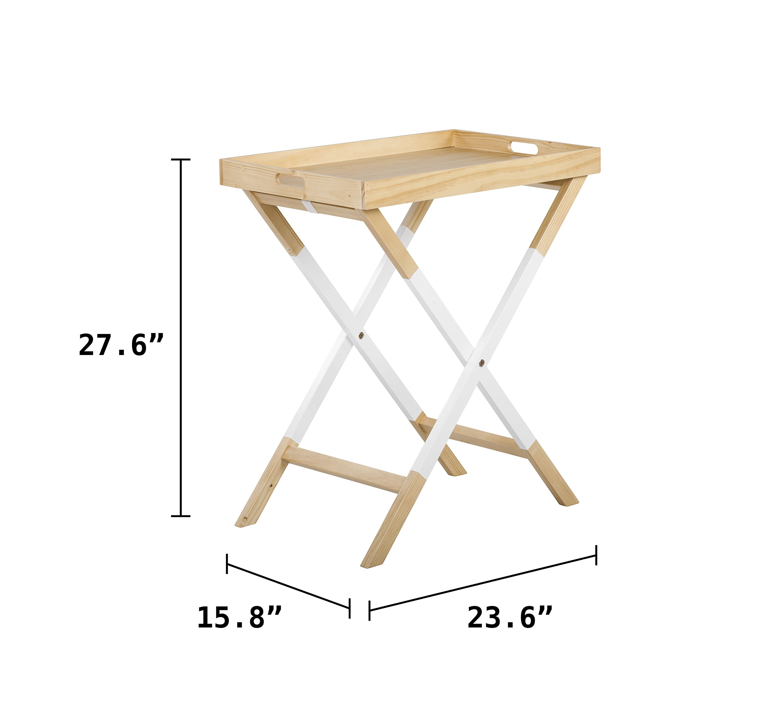 Universal Experts FUST10026A Remus Folding Tray Table, Oak/White by Universal Experts (Image #12)