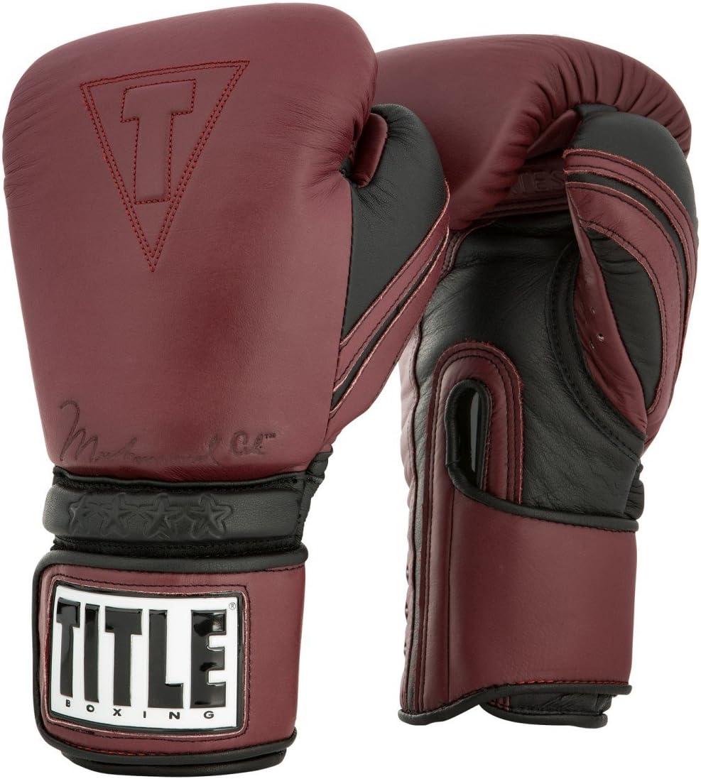 Ali本物のレザーバッグ手袋 マロン/ブラック 12 oz