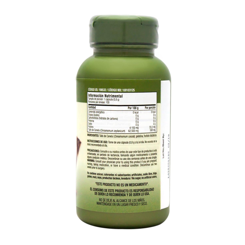Amazon.com: GNC Herbal Plus Cinnamon Bark 500mg, 100 Capsules: Health & Personal Care