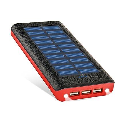 Amazon.com: Ruipu - Cargador externo, portátil, solar ...