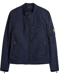384002039f Belstaff Men's Double Layered Pallington Jacket UK 44 Green: Amazon ...