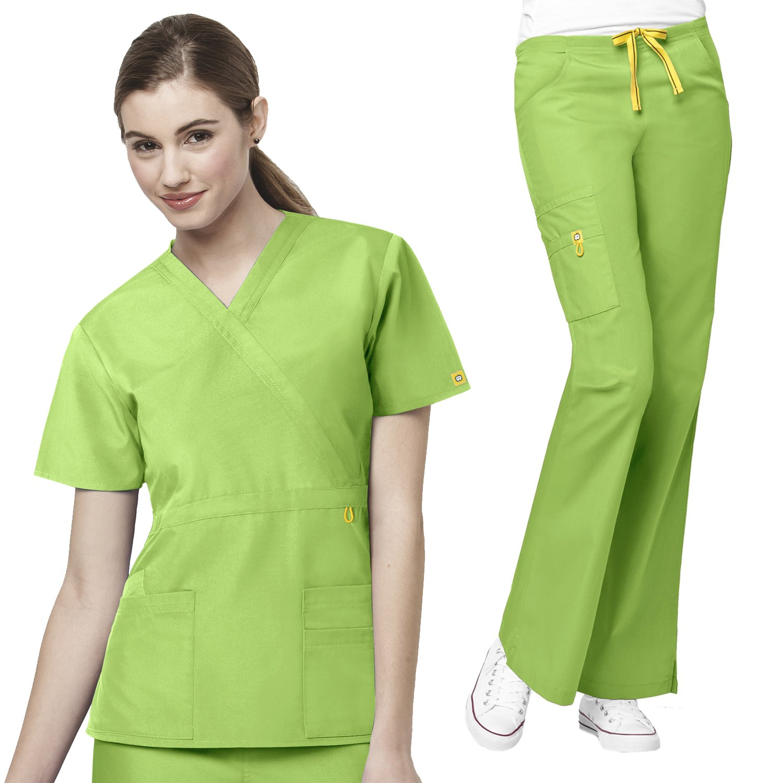 Origins Golf Mock Wrap Tops & Romeo Women's Pant Scrub Set [XXS - 3XL]+ Free Gift