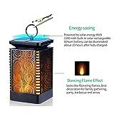 Solar Lantern Lights Dancing Flame Waterproof