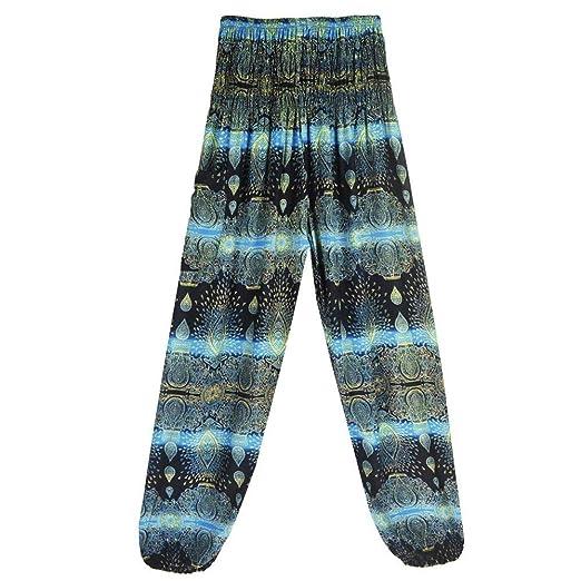 VJGOAL Moda Casual Unisex Boho Gota de Agua impresión Pantalones de ...