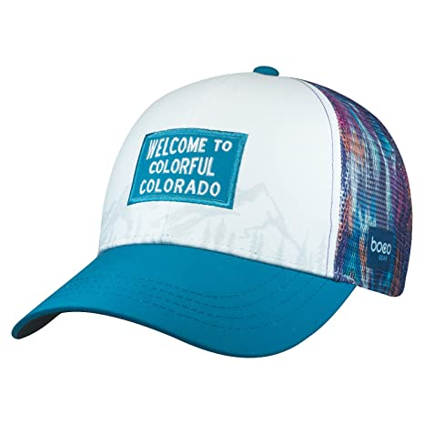 46c2e65c998 Amazon.com: BOCO Gear Technical Trucker Hat - Colorado - Colorful Welcome  (Womens): Sports & Outdoors