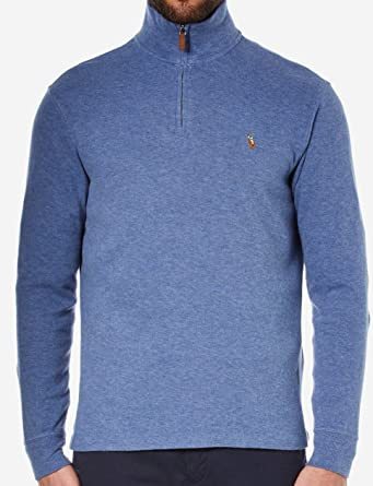 Polo Academy Lauren Sweatshirt Men's Quarter Ralph Zip Blue OiPkZuXwT