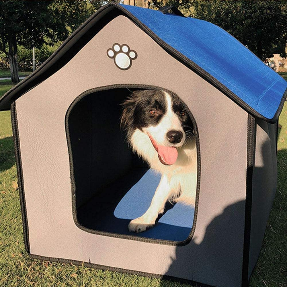Warm Pet Kennel Kitty House Outdoor Weatherproof Waterproof Pet House Easy to Assemble for Pets Indoor and Outdoor Sleeping Kitabetty Pet Dog House with Removable Inner Pad