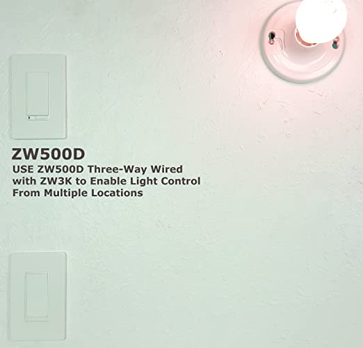 enerwave zw500d la z wave wireless smart dimmer light switch in wall air gap two free wall plates neutral wiring required light almond amazoncom buy ge ge 45613
