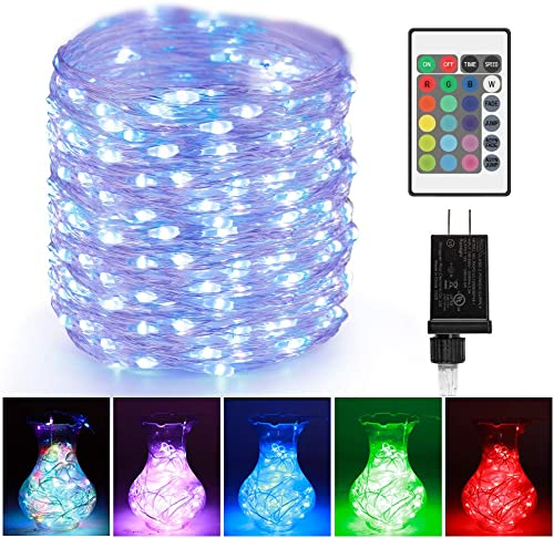 LED Rope String Lights Outdoor – 66ft 200LEDs RGB Color Changing Starry Fairy Lights, UL-Listed Plug in Multi-Color Waterproof Copper Wire Lights for Bedroom, Party, Wedding, Christmas Decor