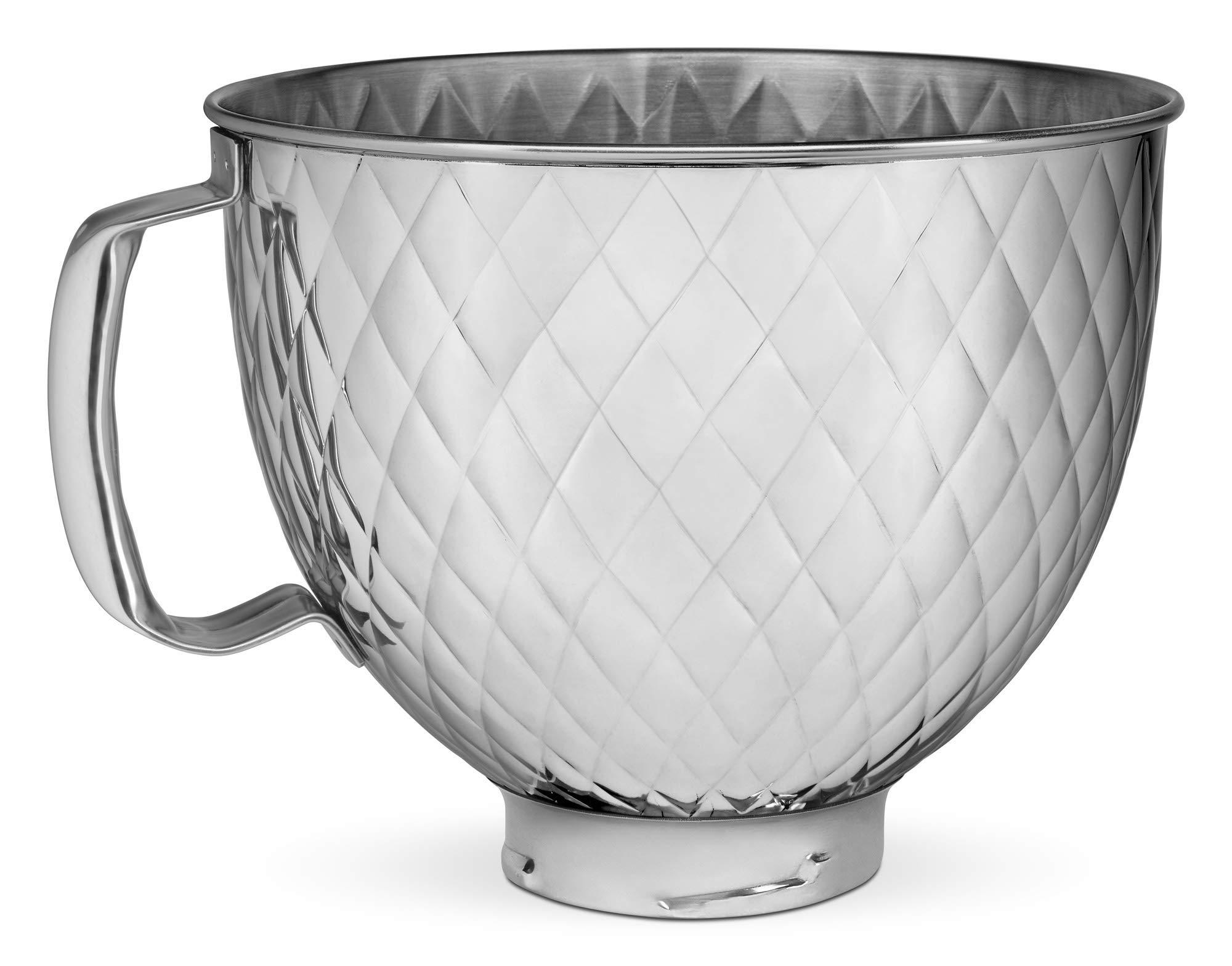 KitchenAid KSM5SSBQB 5QT SS Stand Mixer Bowl, 5 quart, Quilted Stainless Steel by KitchenAid