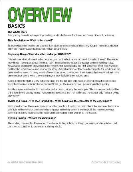 Amazon.com : Creative Writing With Literary Terms Reproducible ...
