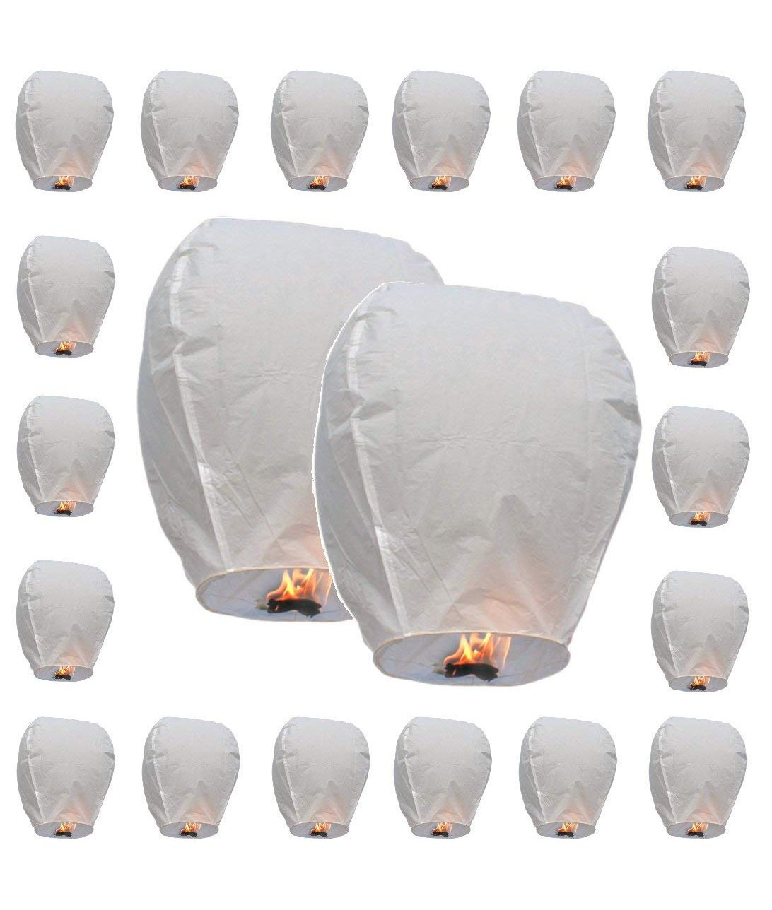 20 x Eco-Friendly Sky Lanterns for Christmas, New Year, Chinese New Year, New Years Eve, Weddings & Parties MYSWEETY