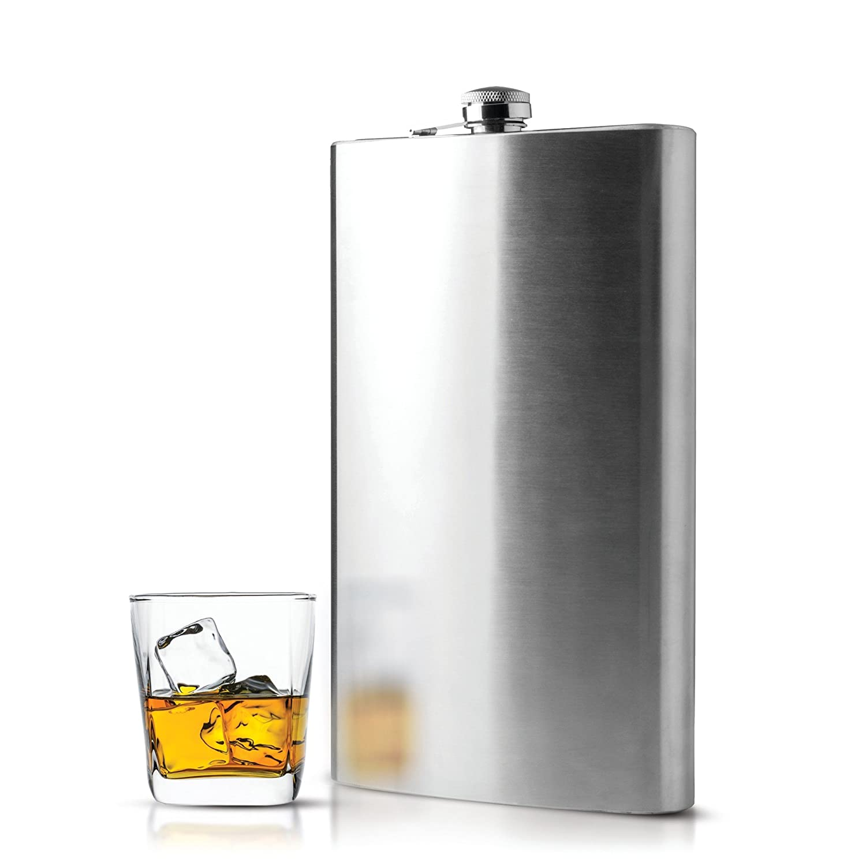 Amazon.com | Maxam Jumbo Stainless Steel Flask, 64 oz: Alcohol And Spirits  Flasks: Flasks