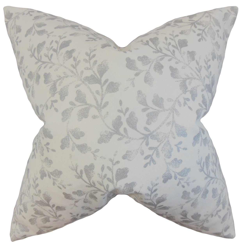 The Pillow Collection Zola Foliage Bedding Sham Silver Standard//20 x 26,