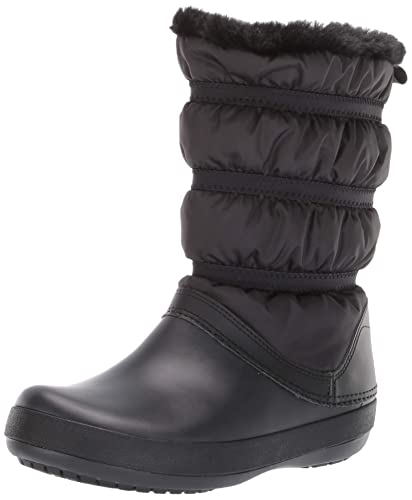 8607a056262cb crocs Women s Crocband Winter Boot W Snow Black