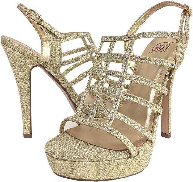 Delicious Women/'s Dazzling Multi Color Slip On High Heel Dress Pumps SCUBA