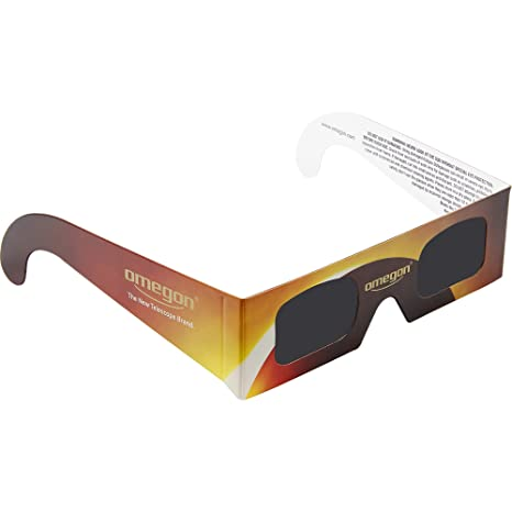 Solar Eclipse Glasses - Omegon Sunsafe CE and ISO Certified viewers for The Total Solar Eclipse
