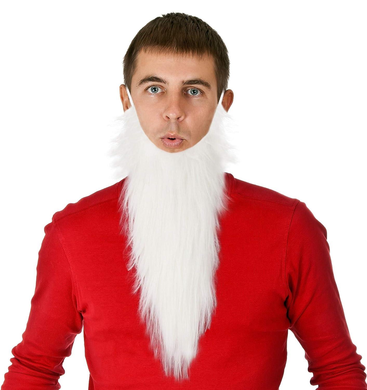 Costume Adventure White Gnome Dwarf Character Costume Beard - One Size SOC-White-Dwarf-Beard-Adult