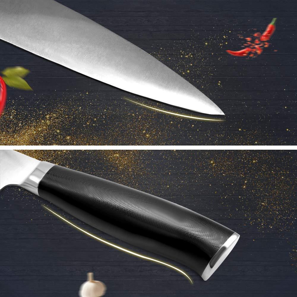 Ruicer Cuchillo de cocina profesional 20 cm de acero inoxidable