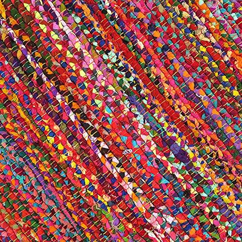 Eyes of India - 3 X 5 ft Colorful Woven Chindi Rag Rug Indian Bohemian Boho Decorative by Eyes of India (Image #4)