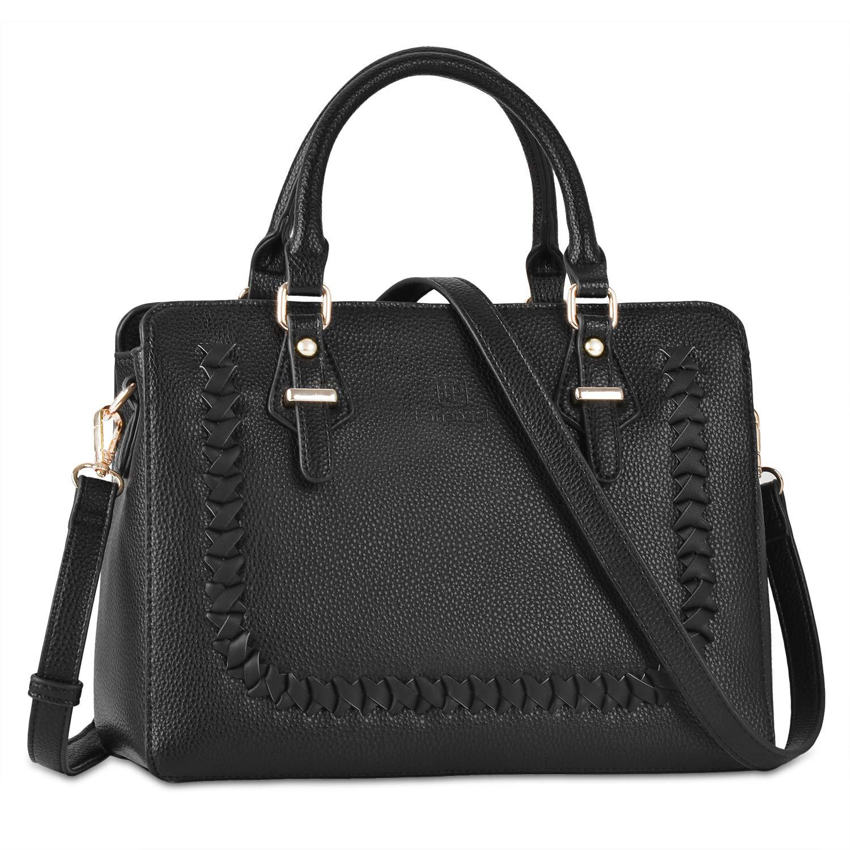 a570ad95733d Fanspack Womens Purses and Handbags PU Leather Top Handle Satchel Shoulder  Bags Messenger Tote Bag