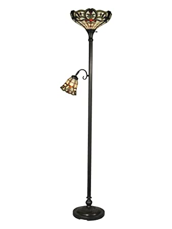 Dale tiffany tr10022 tiffany torchiere lamp stand mica bronze and dale tiffany tr10022 tiffany torchiere lamp stand mica bronze and art glass shade mozeypictures Images