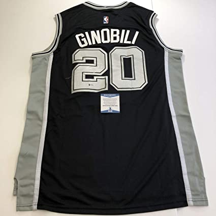 finest selection 3914d 10977 Manu Ginobili Autographed Signed Memorabilia Jersey (Size XL ...