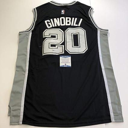 finest selection ca30c fe13f Manu Ginobili Autographed Signed Memorabilia Jersey (Size XL ...