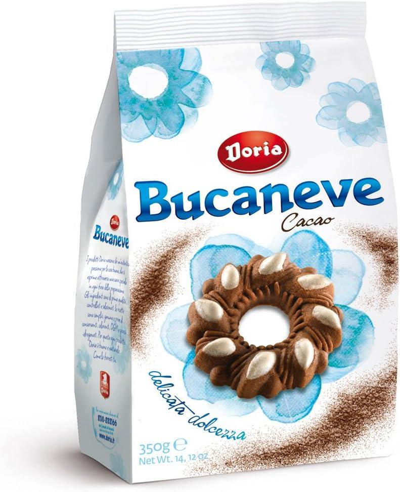 Doria Bucaneve Cacao Cookies Italian Murbeteigplatzchen With Cocoa 350 G Amazon Co Uk Kitchen Home