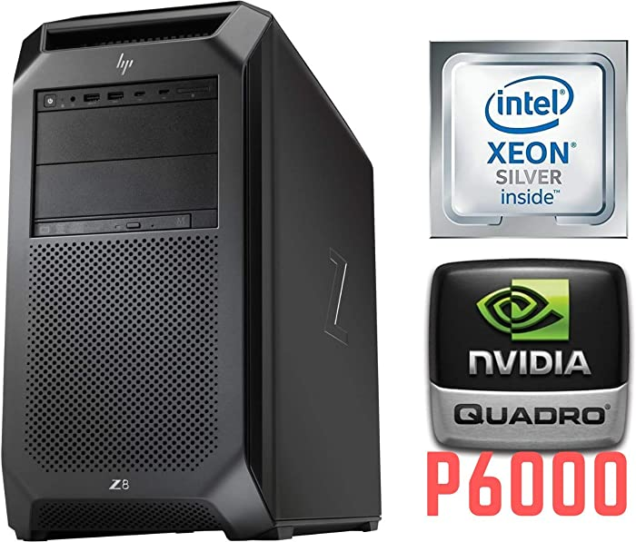 HP Z8 G4 Workstation with 24 Core (2x12) Dual Intel Xeon Silver 4116 Processors and NVIDIA Quadro P6000 24GB Graphics, Windows 10 Professional (Renewed)