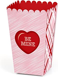 product image for Valentine's Day Conversation Hearts - Valentine's Day Party Favor Popcorn Treat Boxes - Set of 12