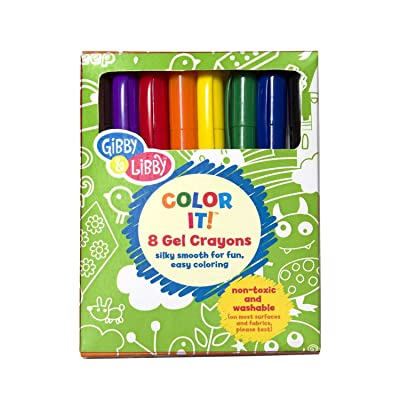 C.R. Gibson 'Color It!' Washable Gel Crayons for Kids, 8 Pack: Toys & Games