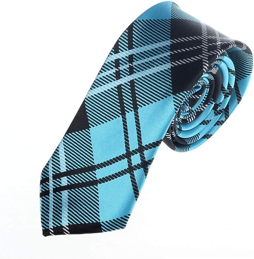 Meaningg-Mnes Tie-Nuevos hombres de moda Plaid Casual Neck Tie ...