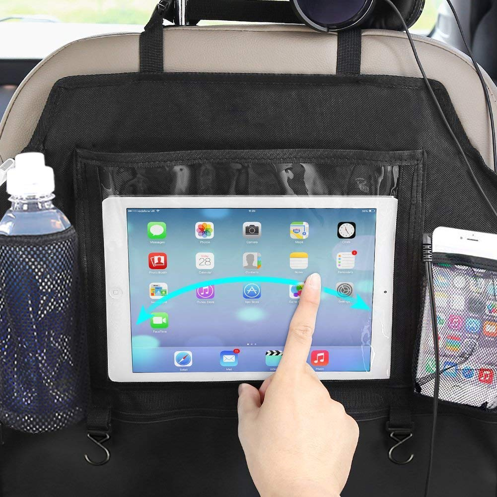 Door & Seat Back Organizers Kick Mats Car Seat Back Protectors with Touch Screen Tablet Holder 2 Pack BigAnt Backseat Organizer