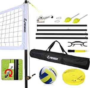 Patiassy Portable Professional Volleyball Set for Outdoor ...