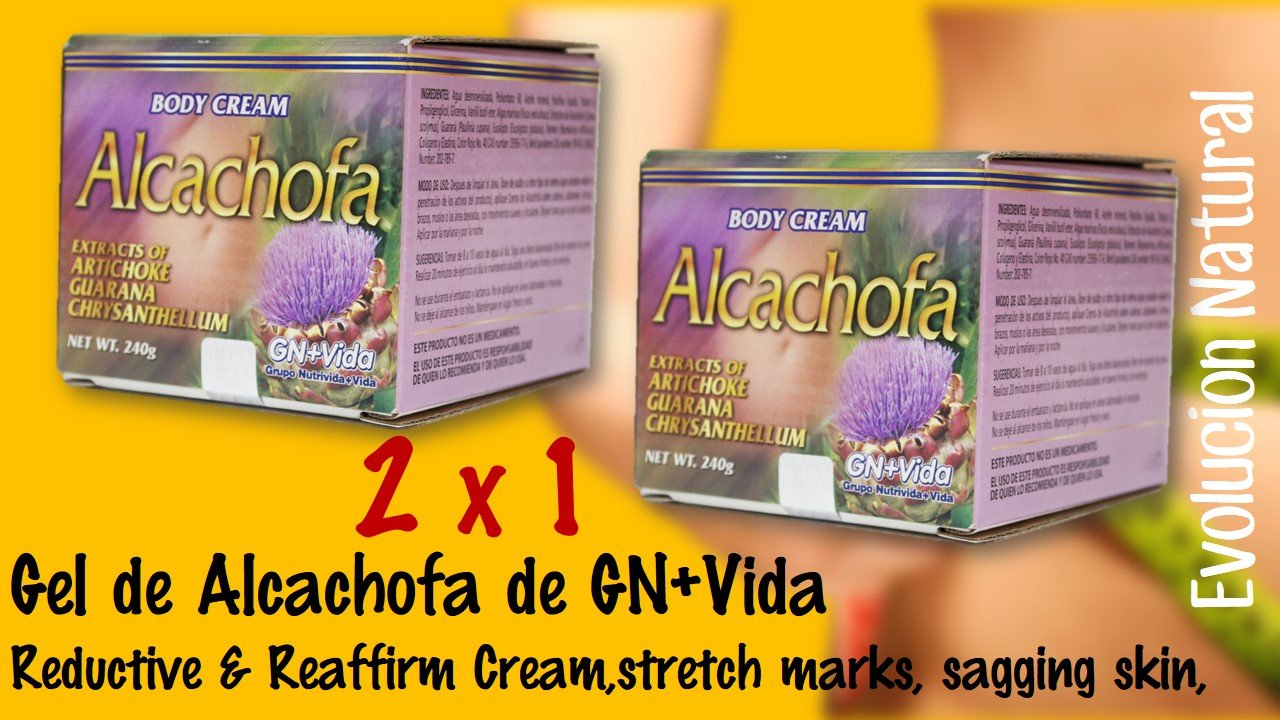 Amazon.com: 2 X 1 Gel Alcachofa Reductive & Reaffirm Cream,stretch Marks, Sagging Skin,artichoke Gel Gn + Vida Unisex: Beauty