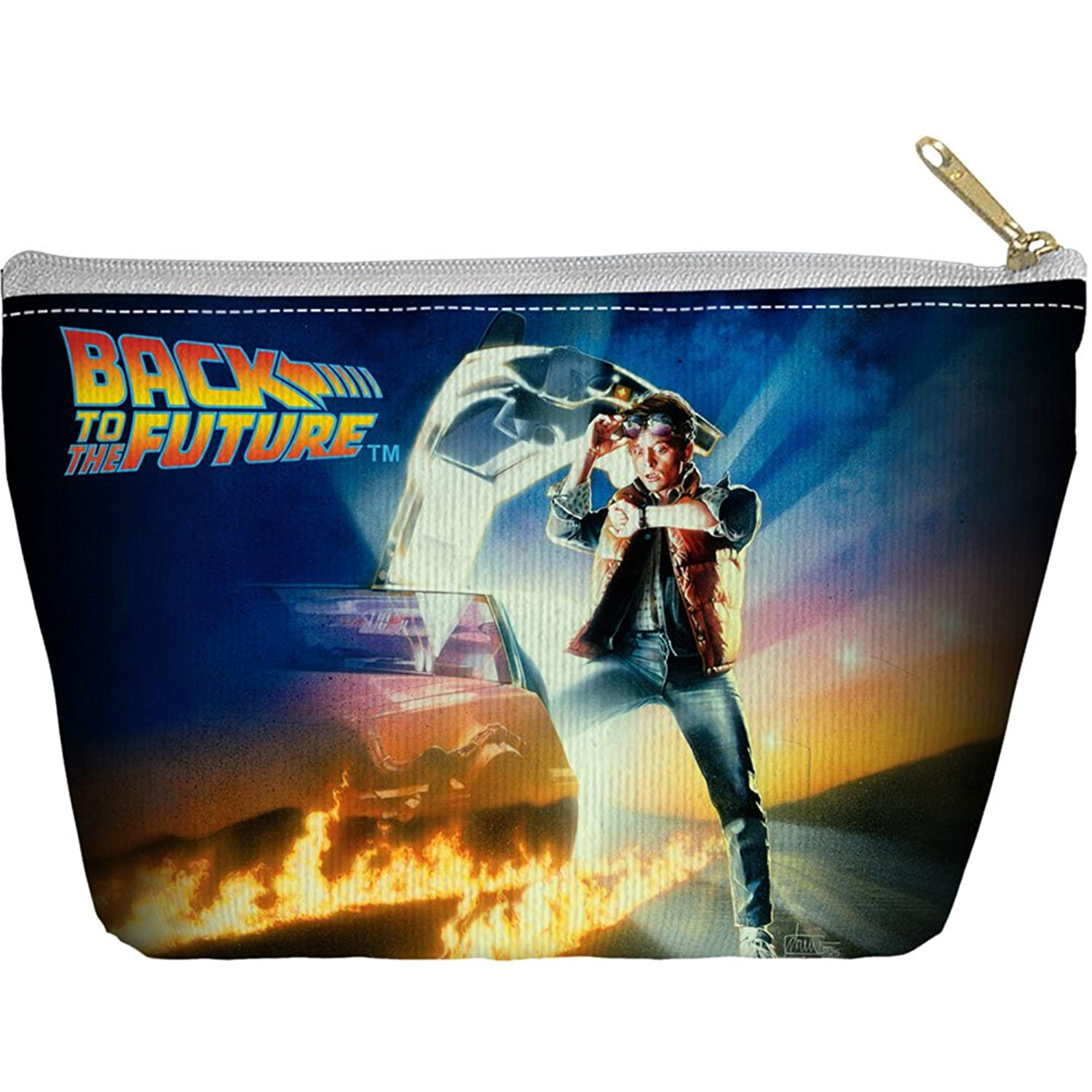 Back To The Future Bttf Poster Accessory Pouch White