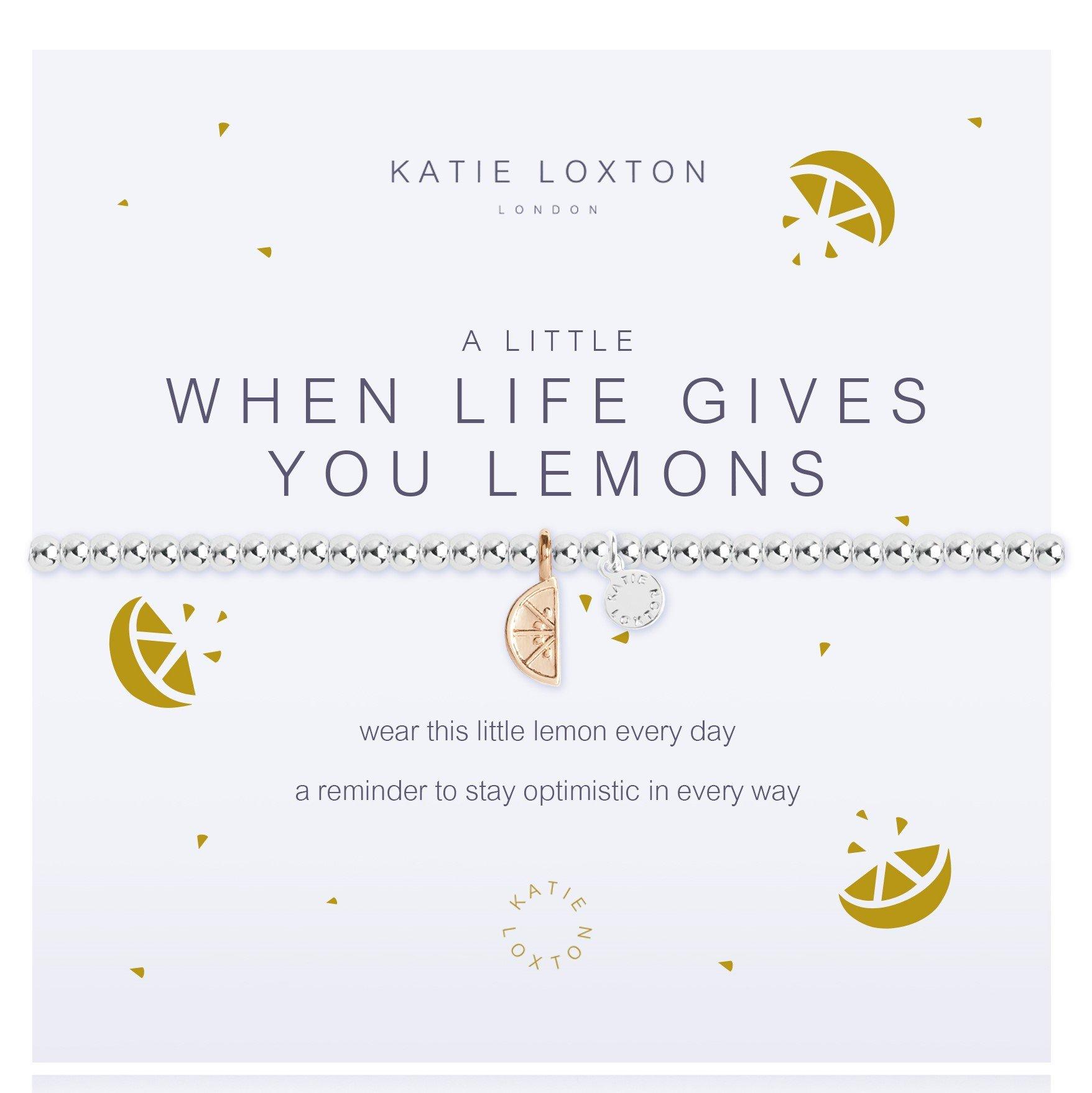 Katie Loxton A little - When Life Gives You Lemons - bracelet