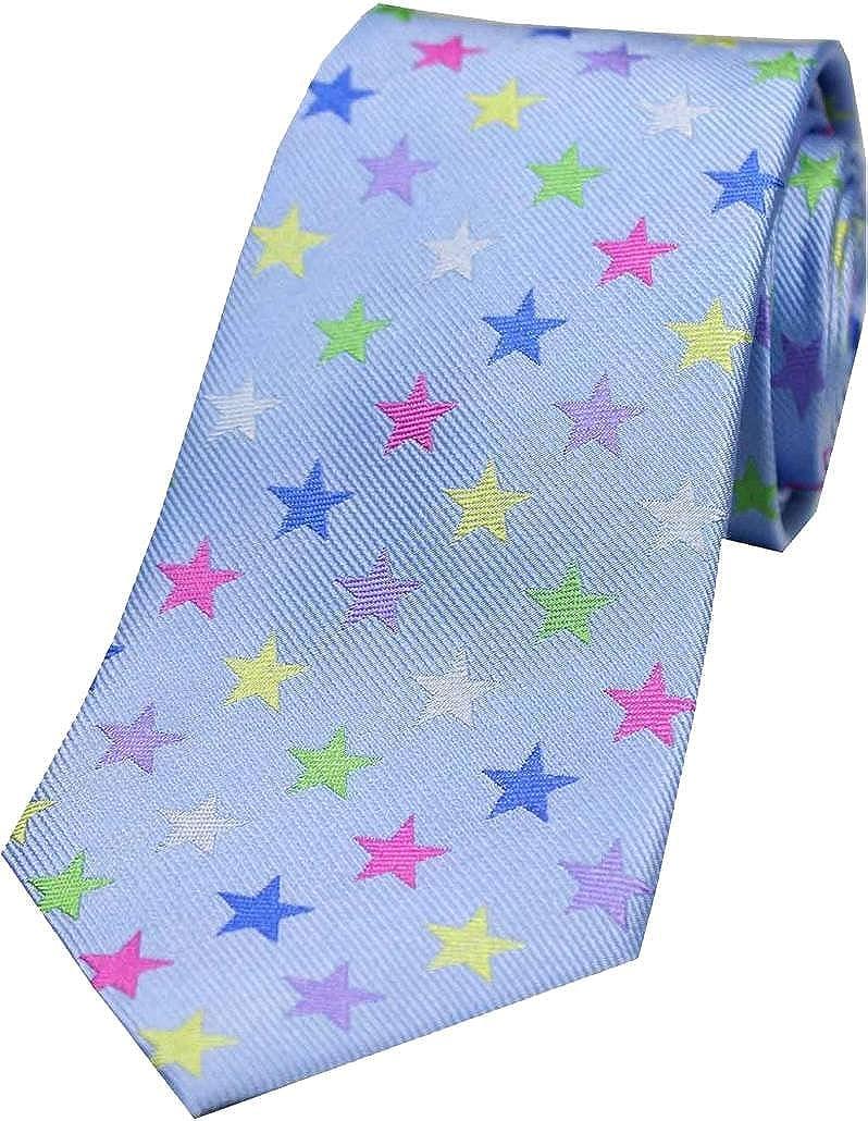 Cielo azul Estrella de lujo de seda corbata de David Van Hagen ...
