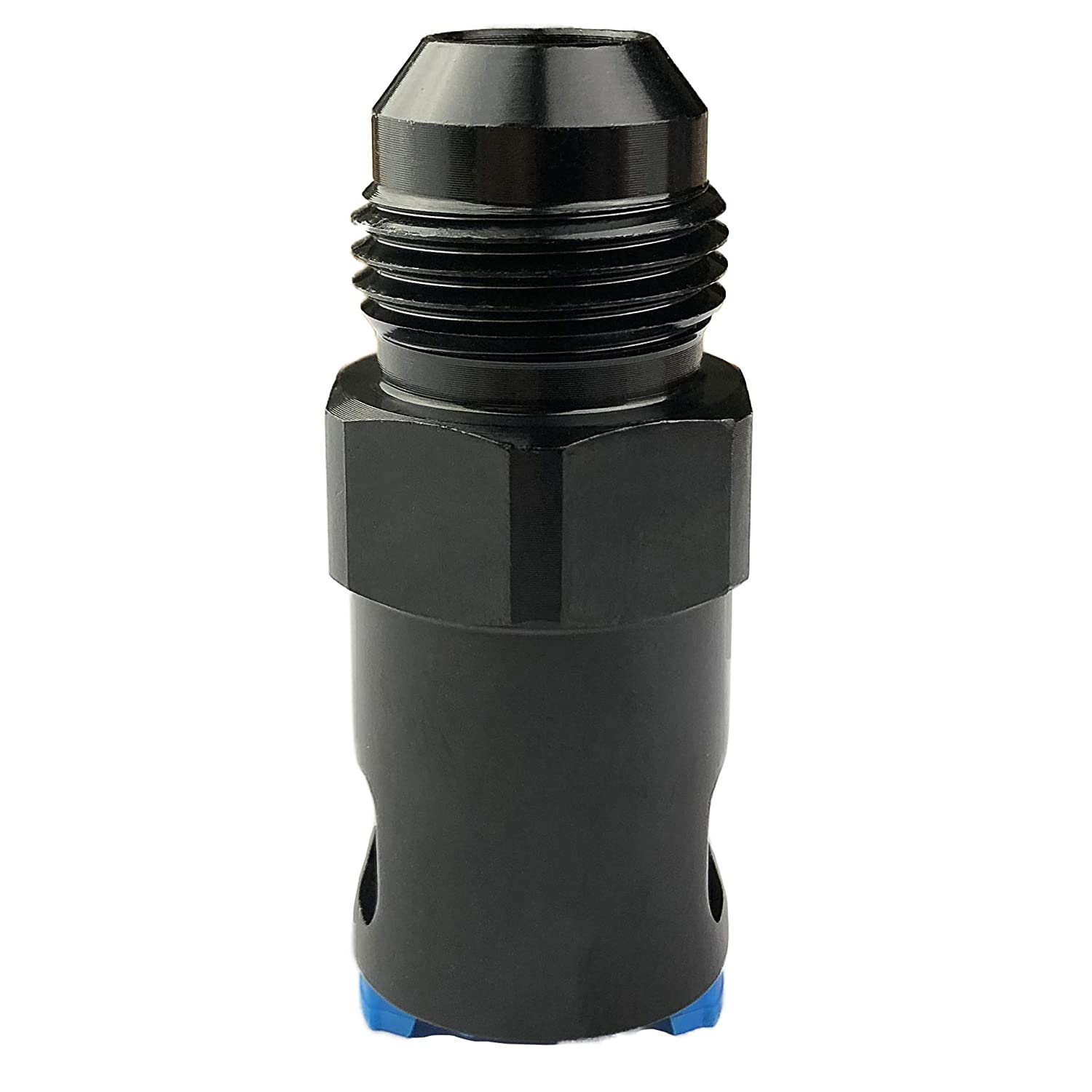 6AN Fuel Cell Bulkhead Fitting Adapter Aluminum AN6 Locking Nut 6 AN Male Flare Thread with Teflon Washer