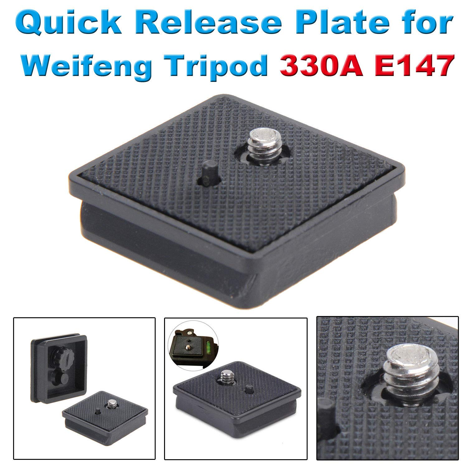 Professional Quick Release QR Plate for Weifeng Tripod 330A E147 40x42mm Black
