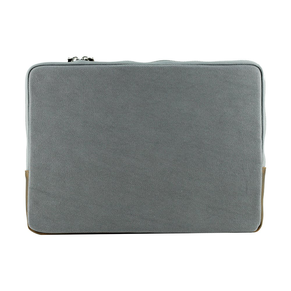 Laptop Umhängetasche Umhängetasche Umhängetasche mit Fliegermotiv Canvas Leder - grau braun (34 cm x 24 cm x 7 cm) ParAvion B00XJOT6AE Daypacks Großer Verkauf 3b7511