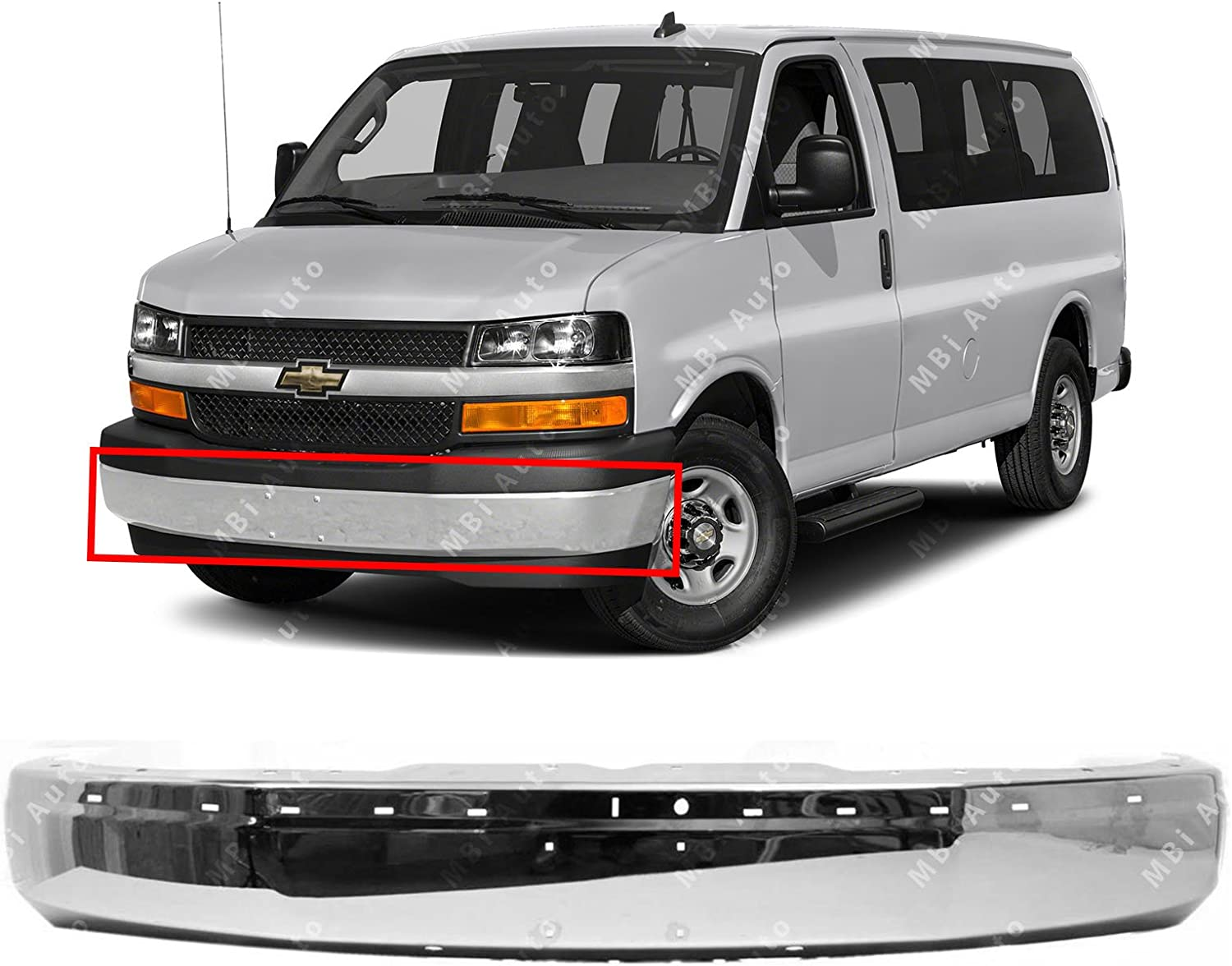 2014 2013 2012 Chevy Express Front Bumper Cover for 2003-2015 Chevrolet
