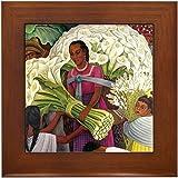 Diego Rivera Cala Lilies Vendor Art Framed Tile