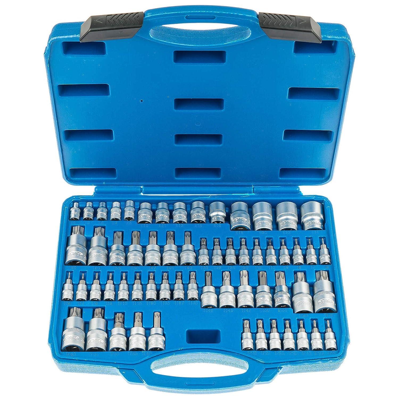 60 pezzi Set di chiavi a bussola Torx e Torx Plus Satra S-ST60B