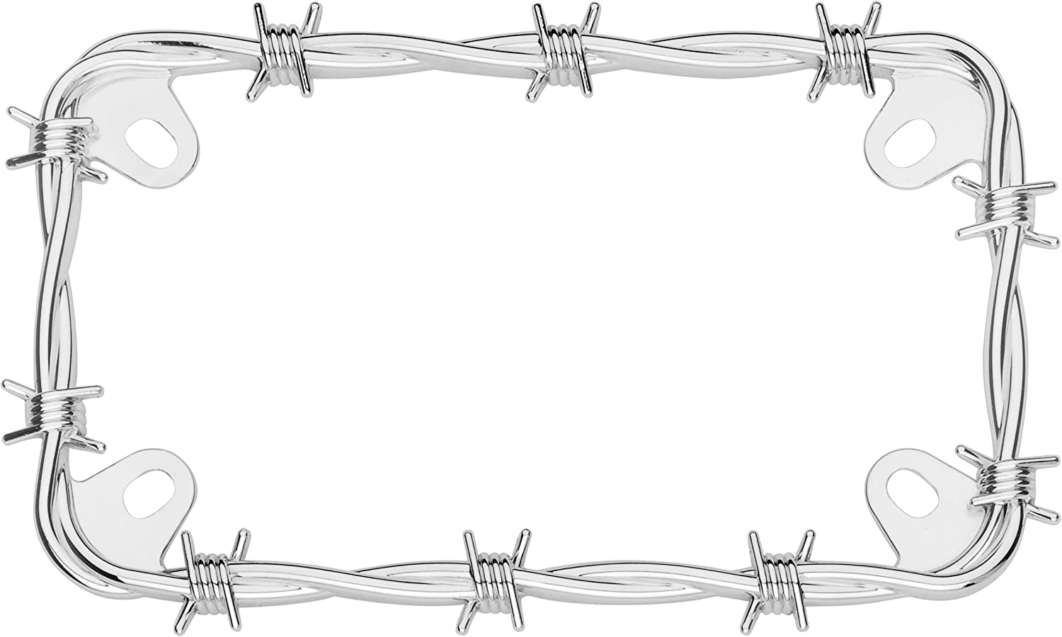 Chrome Cruiser Accessories 77430 MC Barbed Wire Motorcycle License Plate Frame