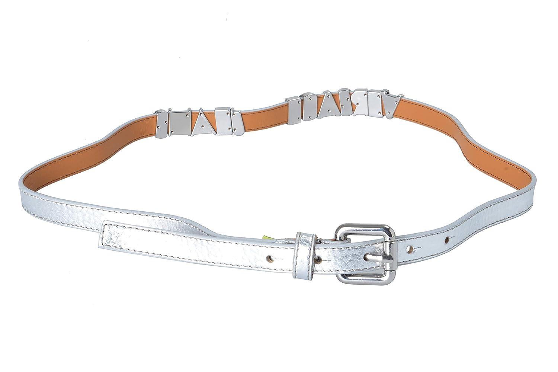 Versace Jeans 100% Leather Silver Women's Belt US 85 IT 100
